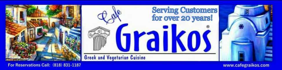 Cafe Graikos in Porter Ranch, CA,  19346 Rinaldi Street , Porter Ranch, California 91326 - (818) 831-1187
